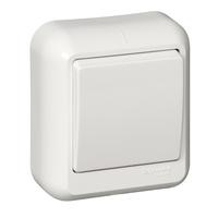 ПРИМА Выключатель одноклавишный наружный в сборе белый индивидуальная упаковка A16-051M-BI Schneider Electric, цена, купить