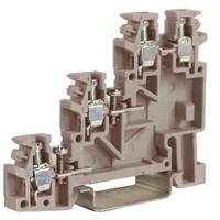TTLS.2GR, 3 уровневый проходной зажим для сенсоров серый 2,5 кв.мм   ZTL100GR DKC (ДКС) купить по оптовой цене