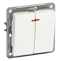 Механизм выключателя 2-кл. СП W59 16А IP20 с индик. мат. хром SchE VS516-251-5-86 (ВС516-251-5-86) Schneider Electric купить по оптовой цене
