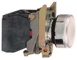 Кнопка белая возвратная 22мм 24В с подсветкой Schneider Electric XB4BW31B5 фикс 1НO+1НЗ купить в Москве по низкой цене