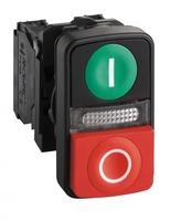 Кнопка двойная с маркир.+LED SchE XB5AW73731G5 Schneider Electric 22мм LED цена, купить