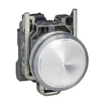 Лампа сигнальная 22мм 24в светодиодная белая Schneider Electric XB4BVB1 купить в Москве по низкой цене