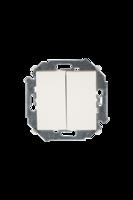Механизм выключателя 2-кл. СП Simon 15 16А IP20 винт. зажим сл. кость 1591398-031 двухклавишный 250В купить в Москве по низкой цене
