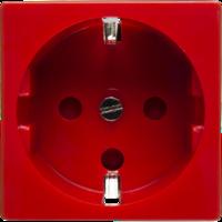 Розетка электрическая 2К+З для выделения чистого питания с замком (красный) | 200002 SPL купить в Москве по низкой цене