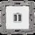 Устройство зарядное Etika с двумя USB-разъемами тип A-тип C 240В/5В 3000мА бел. Leg 672236 Legrand