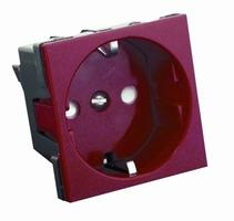 Розетка Красная с заземлением, шторки для кабель-канала (16А) РН16-113-к/RN16-113-K В45 Schneider Electri Electric купить по оптовой цене