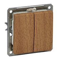 Механизм выключателя 2-кл. СП W59 16А IP20 бук SchE VS516-252-8-86 (ВС516-252-8-86) Schneider Electric купить по оптовой цене