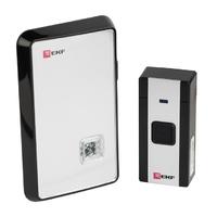 Звонок беспроводной в розетку (черный-серый 20 мелодий с индикацией дистанция 120м) PROxima DBS-D-003 EKF, цена, купить