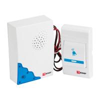 Звонок проводной на батарейках (белый-голубой 36 мелодий шнур 1.2м с индикацией 2х1.5В АА) Basic DBW-001 EKF, цена, купить