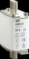 Плавкая вставка предохранителя ППНИ-37, габарит 2, 80А   DPP40-080 IEK (ИЭК) купить по оптовой цене