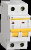 Выключатель автоматический двухполюсный ВА47-29 8А C 4,5кА   MVA20-2-008-C IEK (ИЭК) купить по оптовой цене