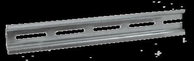 DIN-рейка (10см) оцинкованная | YDN10-00100 IEK (ИЭК) купить по оптовой цене