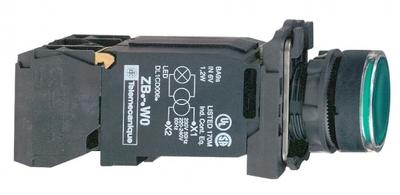КНОПКА 22ММ 230В ЗЕЛЕНАЯ С ПОДСВЕТКОЙ XB5AW3345 | Schneider Electric со встроен транс цена, купить