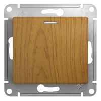 Механизм кнопки нажимной 1-м СП Glossa сх. 1 10AX с подсветкой дер. дуб SchE GSL000517 Schneider Electric купить по оптовой цене