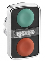 ГОЛОВКА КНОПКИ ДВОЙНАЯ БЕЗ МАРКИР + LED ZB4BW7A3740 | Schneider Electric для цена, купить