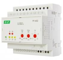 Переключатель фаз PF-452 (два выхода для питания нагрузки; с регулируемыми верхними (230-260) и нижними (150-210) значениями напряжения переключения; монтаж на DIN-рейке 35мм 3х400/230+N 6х16A IP20) F&F EA04.005.004 Евроавтоматика ФиФ автоматический купить в Москве по низкой цене