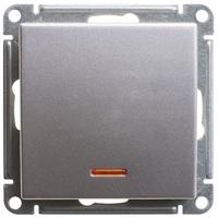 Механизм переключателя 1-кл. W59 с подсвет. 10АХ мат. хром SchE VS610-157-5-86 Schneider Electric купить по оптовой цене
