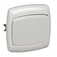 Выключатель скрытой установки двухклавишный с индикатором (6А) С56-051-би/S56-051-BI Wessen РОНДО Schneider Electric купить по оптовой цене