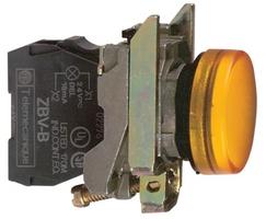 Лампа сигнальная 22мм 24в светодиодная желтая Schneider Electric XB4BVB5 купить в Москве по низкой цене