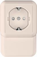 ПРИМА Розетка с заземлением плинтусная с монтажной пластиной индивидуальная упаковка RA16-003-2M-BI Schneider Electric, цена, купить