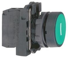 Кнопка зеленая без фиксации 22 мм 1 НО Schneider Electric С ВОЗВРАТОМ XB5AA3311 1НО подсветки купить в Москве по низкой цене