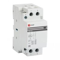 Модульный контактор для распределительного щита 63А 230-400В напряжение управления 184В 2НО 0НЗ 5000Вт 2700ВА EKF КМ Модульные контакторы купить по оптовой цене