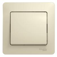 Выключатель 1-кл. СП Glossa 10А IP20 10AX в сборе беж. SchE GSL000212 Schneider Electric купить по оптовой цене