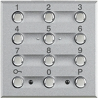 BT Axolute Алюминий Устройства для включения/выключения охранной системы с использованием цифрогого ключа HC4606 Bticino (Legrand) купить по оптовой цене