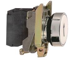 Кнопка черная Стрелка без фиксации 1НО Schneider Electric 22мм с возвр XB4BA3341 купить в Москве по низкой цене