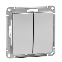 Механизм выключателя 2-кл. W59 10АХ мат. хром SchE VS510-252-5-86 Schneider Electric купить по оптовой цене