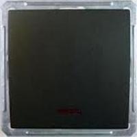 Выключатель 1-кл. СП W59 250В 16АХ с самовозвратом без рамки индик. черн. бархат SchE VS116-151-6-86 Schneider Electric купить по оптовой цене