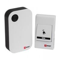Звонок беспроводной на батарейках (черный-белый 36 мелодий с индикацией 3х1.5В ААA дистанция 80м) Basic DBB-A-001 EKF, цена, купить