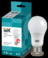 Лампа светодиодная ECO A60 9Вт грушевидная 4000К бел. E27 810лм 230-240В IEK LLE-A60-9-230-40-E27 (ИЭК) LED Е27 220В шар купить в Москве по низкой цене