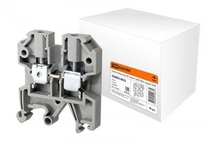 Зажим клеммный проходной 58мм размер ячейки 12мм на DIN-рейку/G-рейка 1 уровень сечение провода 16мм² 100А 500В термопласт TDM ELECTRIC SQ0803-0032 купить по оптовой цене