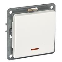 Выключатель 1-кл. СП W59 250В 16АХ с самовозвратом без рамки индик. мор. дуб SchE VS116-151-9-86 Schneider Electric купить по оптовой цене