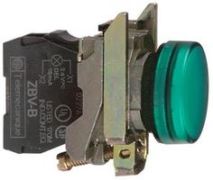 СИГНАЛЬНАЯ ЛАМПА 22ММ 230-240В XB4BVM3 | Schneider Electric зеленая купить в Москве по низкой цене