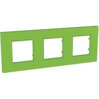 Unica-Quadro Рамка 3 поста киви (MGU4.706.28) Schneider Electric купить по оптовой цене