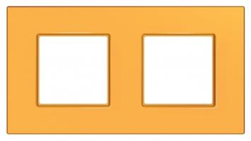 Рамка 2-м Unica quadro оранж. SchE MGU4.704.29 Schneider Electric 2 поста купить в Москве по низкой цене