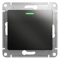 Механизм переключателя 1-кл. Glossa сх. 6 10AX с подсветкой антрацит SchE GSL000763 Schneider Electric купить по оптовой цене