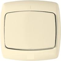 Выключатель скрытой установки одноклавишный (6А) бежевый С16-067/S16-067-SI Wessen РОНДО Schneider Electric купить по оптовой цене