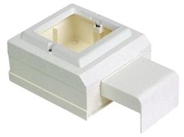 Коробка установочная на 1 пост 45X45 для миниканалов Schneider Electric ETK20598 Суппорт кабель-канала Ultra купить по низким ценам