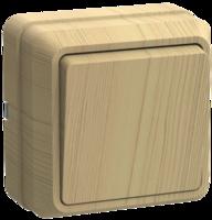 Выключатель 1-кл. ОП Октава 10А IP20 ВС20-1-0-ОС сосна IEK EVO10-K03-10-DC (ИЭК)