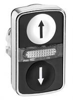 ГОЛОВКА КНОПКИ ДВОЙНАЯ С МАРКИРОВК + LED ZB4BW7A1724 | Schneider Electric для цена, купить