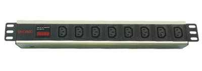 Блок розеток для 19 шкафов, 8 розеток IEC60320 С13, амперметр R519iec8amc14 DKC, цена, купить