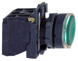 Кнопка зеленая 22мм с подсветкой 230-240В 1но+1нз Schneider Electric XB5AW33M5 без фикс инд купить в Москве по низкой цене