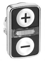 ГОЛОВКА КНОПКИ ДВОЙНАЯ С МАРКИРОВК + LED ZB4BW7A1715   Schneider Electric для цена, купить