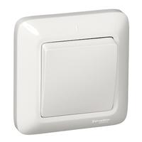 ПРИМА Выключатель без фиксации скрытый одноклавишный белый VS16-119-B Schneider Electric, цена, купить