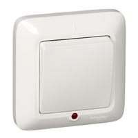 ПРИМА Выключатель одноклавишный скрытый с подсветкой белый индивидуальная упаковка VS1U-115-BI Schneider Electric, цена, купить