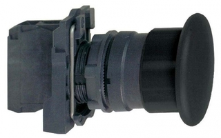 Кнопка черная грибовидная 1НО контакт Schneider Electric 22ММ С ВОЗВРАТОМ XB5AC21 без фикс купить в Москве по низкой цене