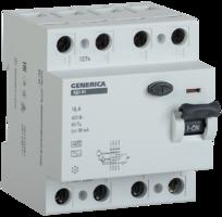 Выключатель дифференциальный (УЗО) ВД1-63 4п 32А 30мА тип AC GENERICA | MDV15-4-032-030 IEK (ИЭК) тока 4Р купить в Москве по низкой цене